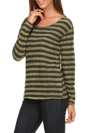 T Party Olive-Striped Long-Sleeve Tee - Product Mini Image