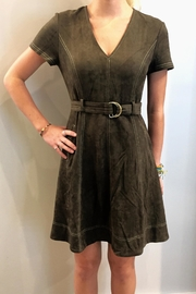 Sugar Lips Olive Suede Dress - Product Mini Image