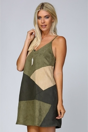 People Outfitter Olive Suede Dress - Front cropped