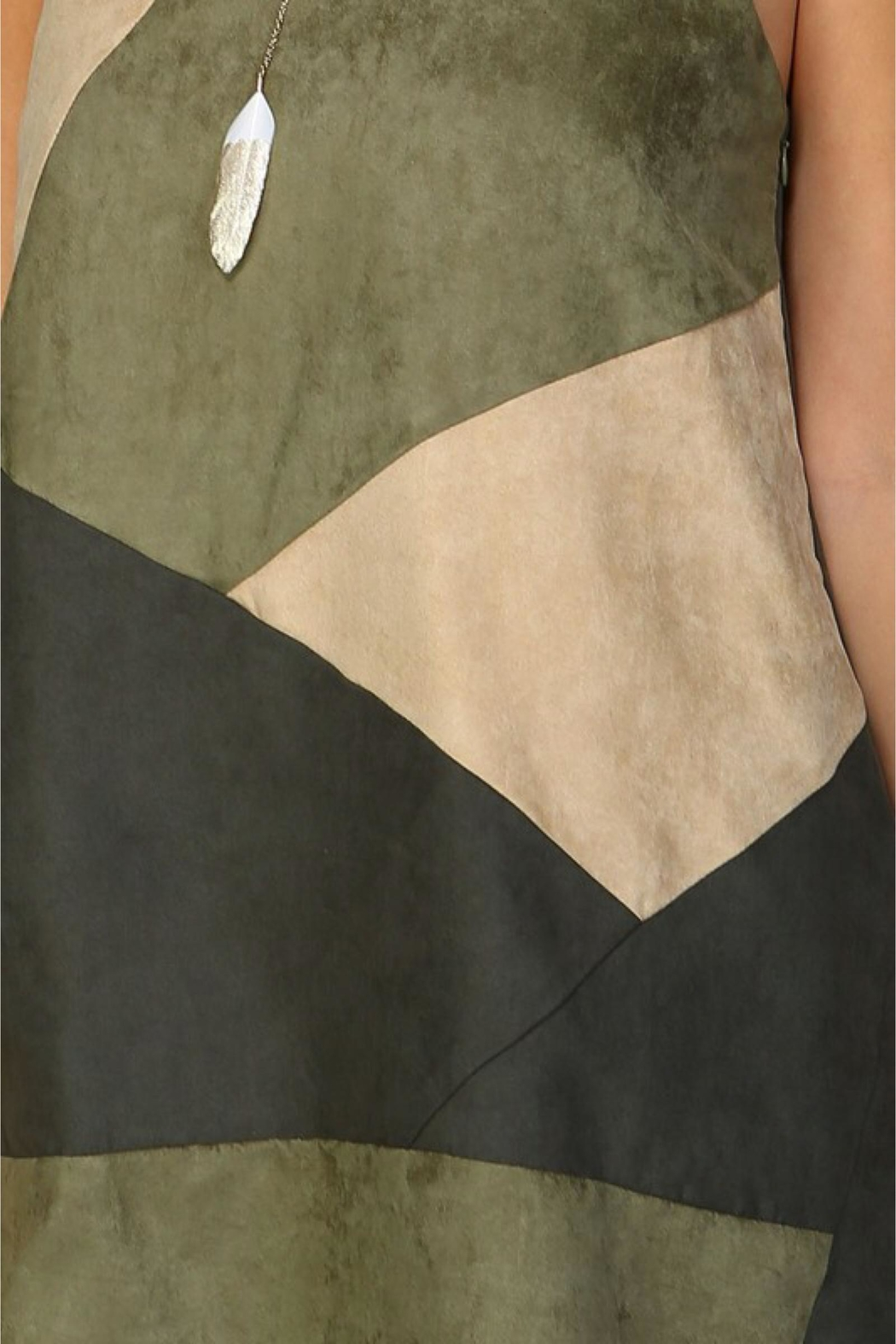 People Outfitter Olive Suede Dress - Side Cropped Image
