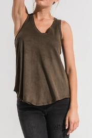 z supply Olive Suede Tank - Product Mini Image