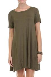 Olive T-Shirt Dress - Front cropped