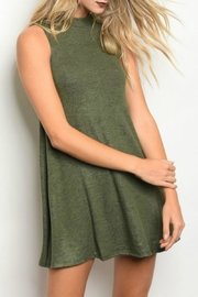 Popular Basics Olive Tank Dress - Product Mini Image