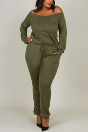 5th Culture Olive This Jumpsuit - Product Mini Image