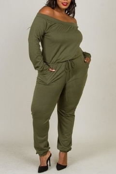 5th Culture Olive This Jumpsuit - Product List Image