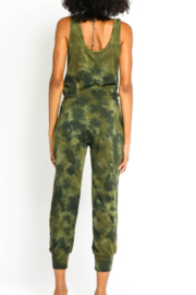 Olivaceous  Olive Tie Dye Jumpsuit - Side cropped