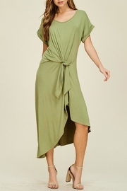 annabelle Olive Tie-In-Front Dress - Product Mini Image