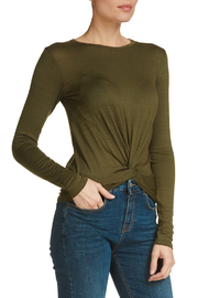 Elan Olive Twist Front Tee - Front cropped