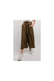 easel  Olive wide leg silky pant - Product Mini Image