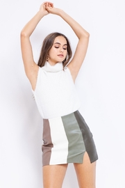 Le Lis Olive You Color Block Skirt - Product Mini Image