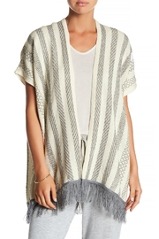Olive & Oak Grey Fringe Poncho - Product Mini Image