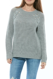 Olive & Oak Lace-Up Detail Sweater - Front cropped
