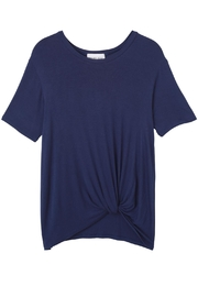 Olive & Oak Navy Knotted Tee Shirt - Product Mini Image