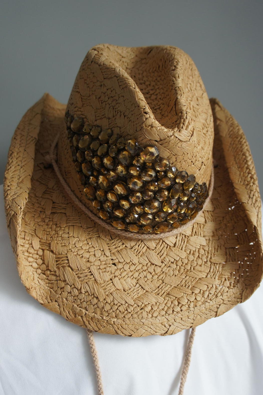 Olive   Pique Amber Rhinestone Cowgirl-Hat from North Carolina by ... c0ea46dc5209