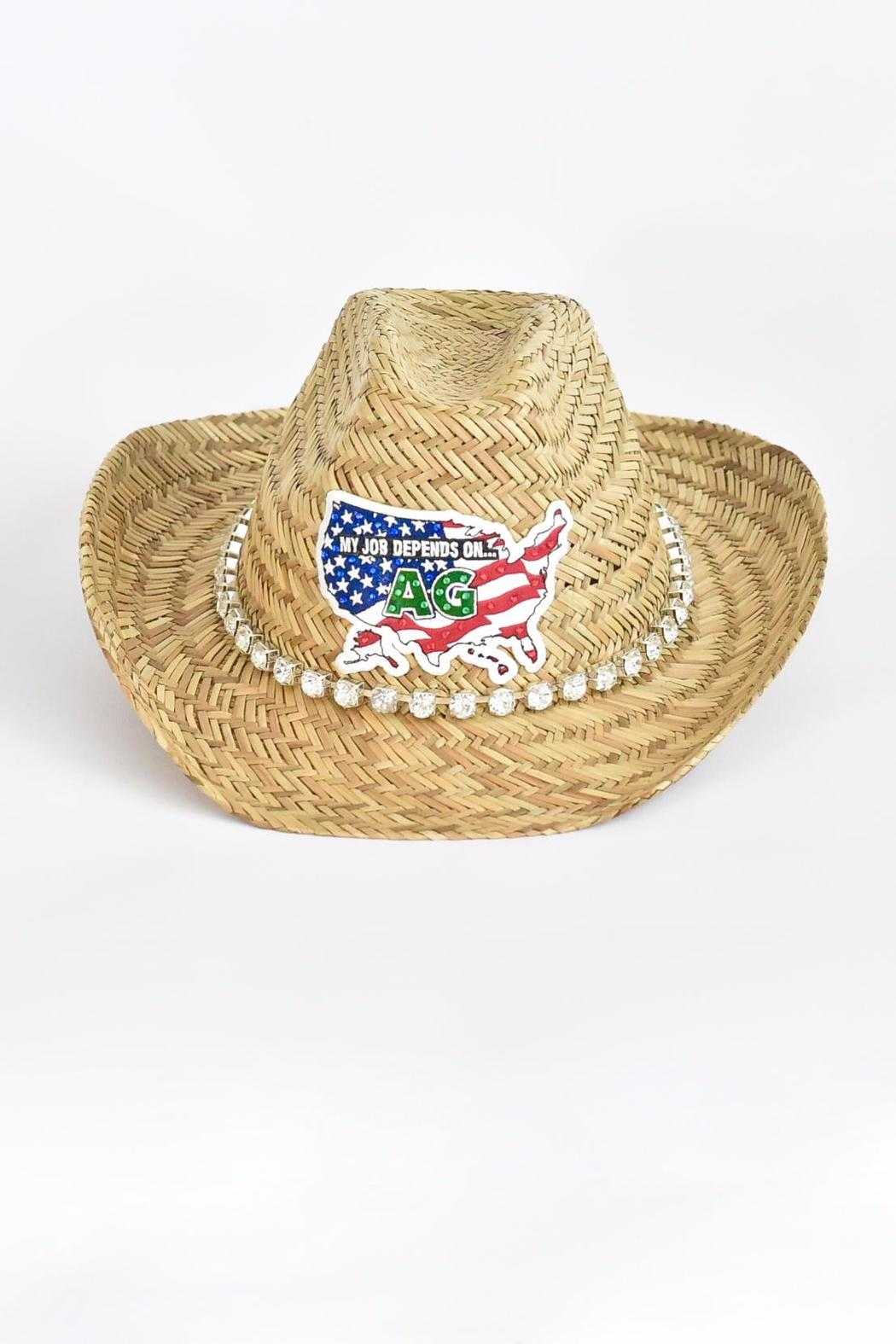 Olive   Pique American Straw Hat from California by Divinity ... 39dd7df700cd