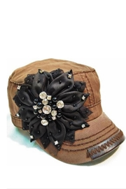Olive & Pique Bling-Flower Cadet Cap - Product Mini Image