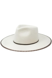Olive & Pique Cream Rancher Fedora - Front cropped