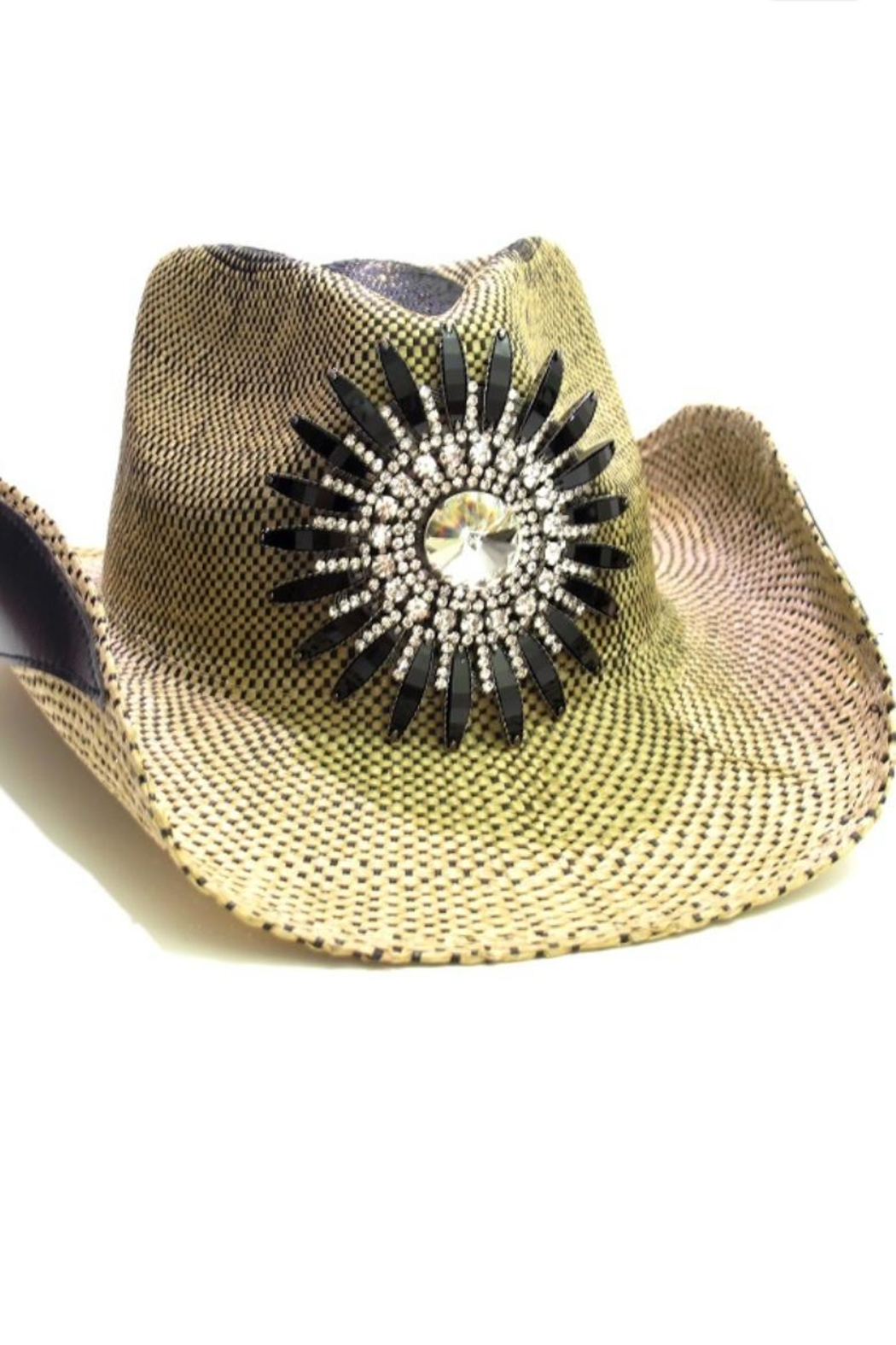 Olive pique crystal flower cowgirl hat from north carolina jpg 1050x1575  Olive and pique hats 62924fe93d37
