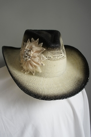 Olive & Pique Embellished Flower Cowgirl-Hat - Front cropped