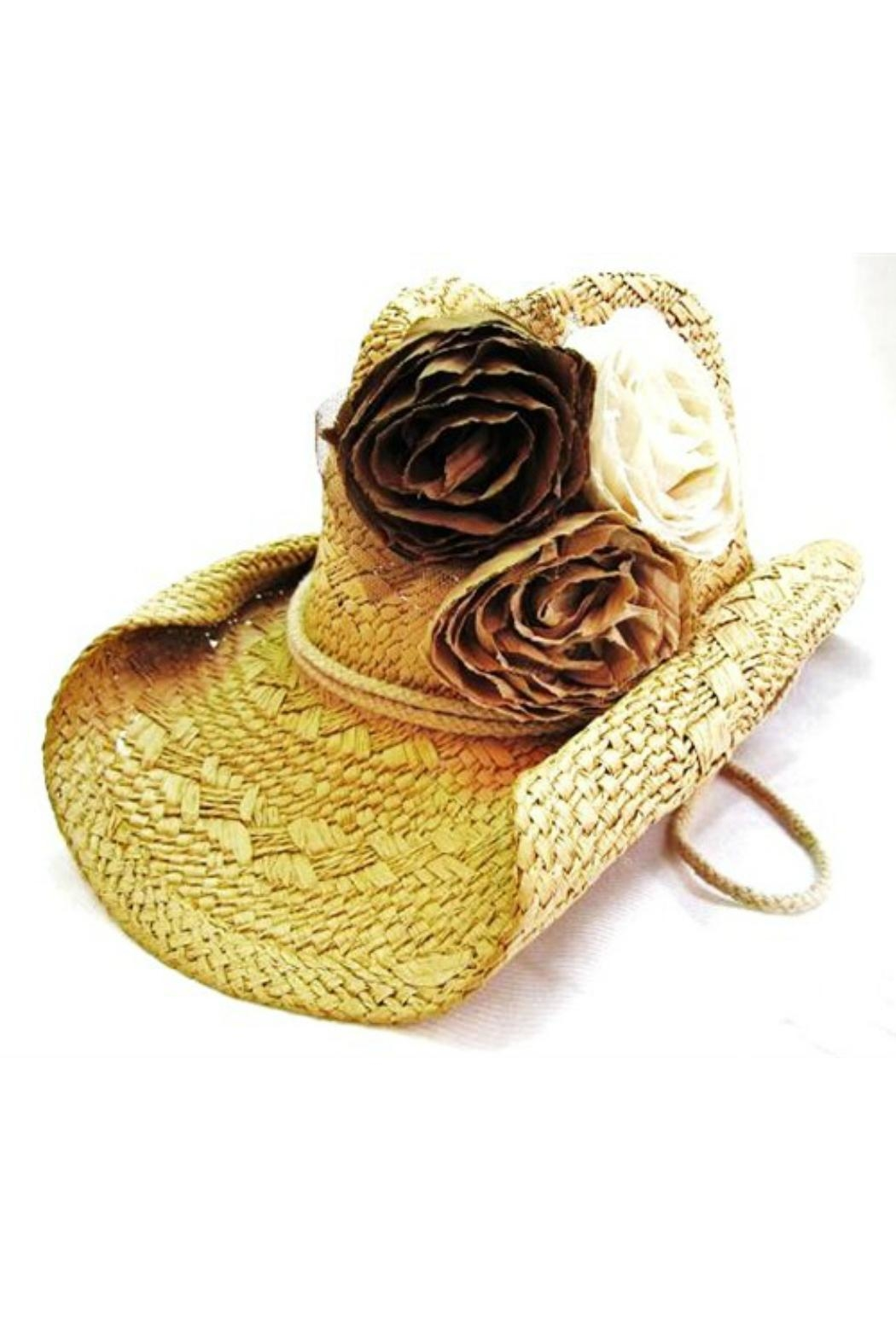 Olive & Pique Fabric-Rosette Cowgirl Hat - Main Image