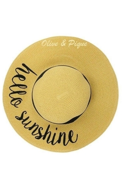 Olive & Pique Hello Sunshine Hat - Alternate List Image