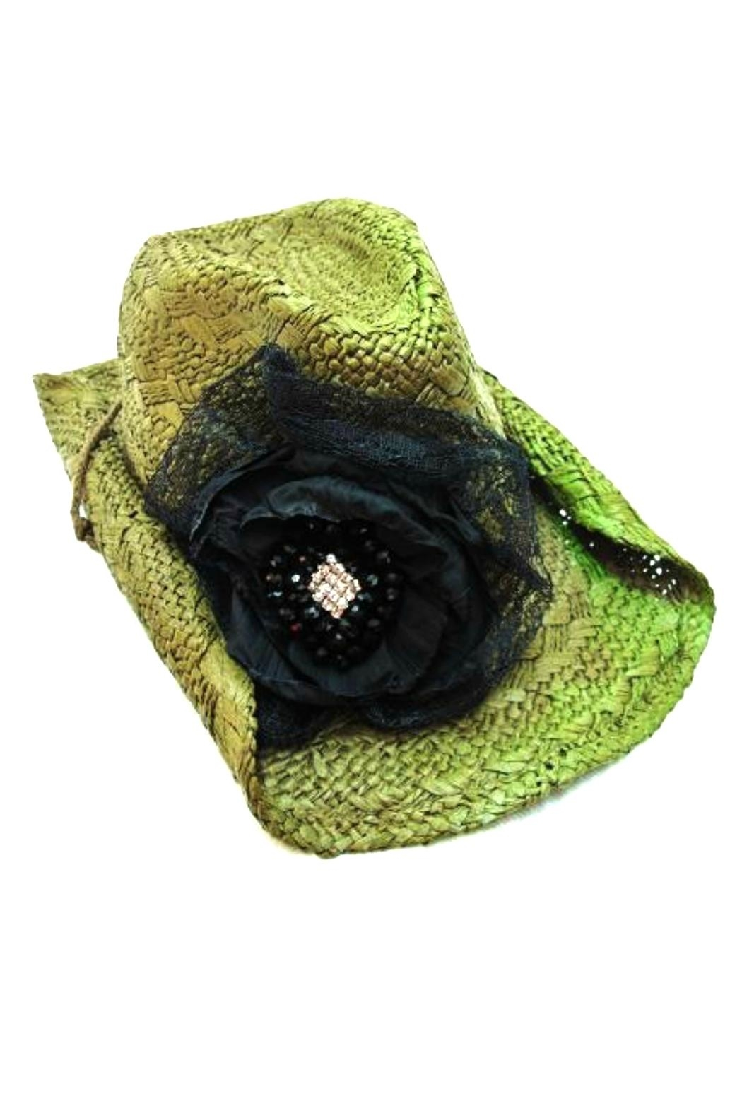 Olive & Pique Lace Flower Cowgirl-Hat - Main Image