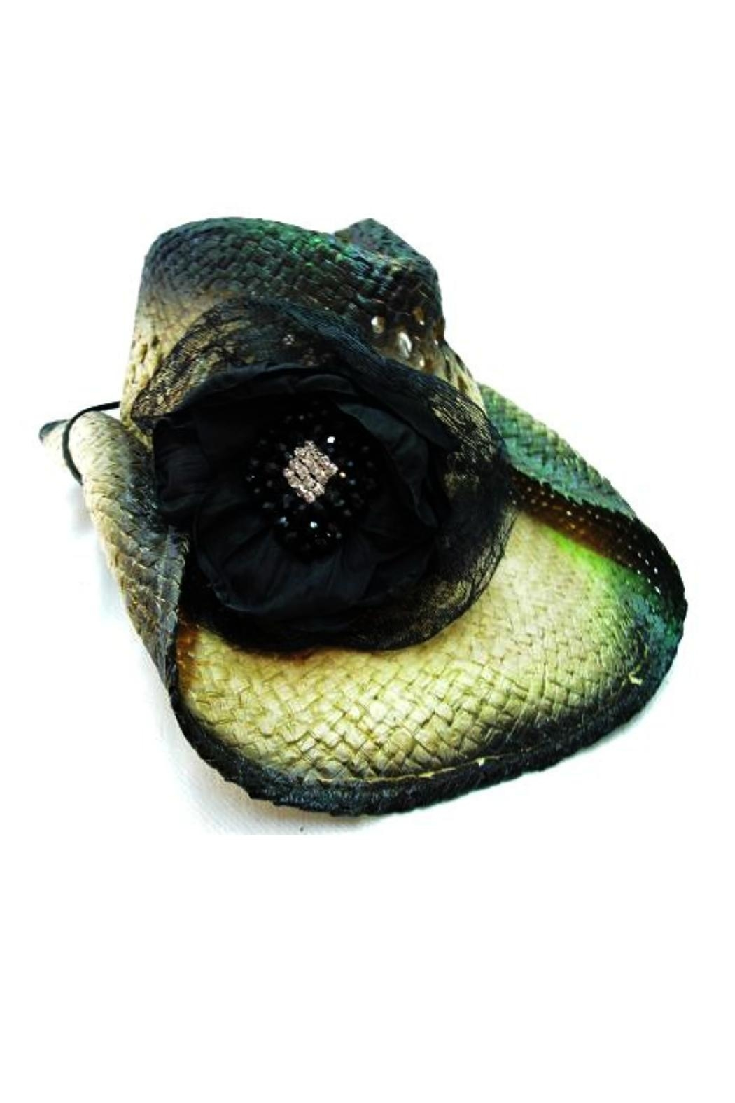 Olive & Pique Lace Flower Cowgirl-Hat - Front Cropped Image