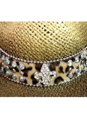 Olive & Pique Leather Bling-Band Hat - Front full body
