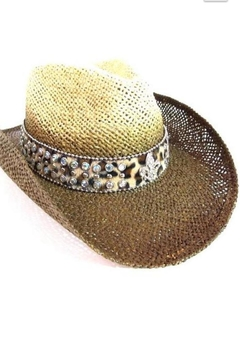 Olive & Pique Leather Bling-Band Hat - Product List Image