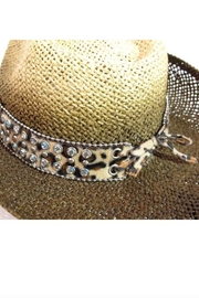 Olive & Pique Leather Bling-Band Hat - Side cropped