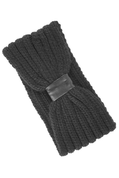 Olive & Pique Leather Knitted Headwrap - Alternate List Image