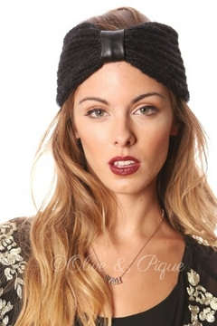 Olive & Pique Leather Knitted Headwrap - Product List Image