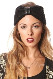Olive & Pique Leather Knitted Headwrap - Product Mini Image