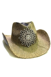 Olive & Pique Rhinestone Flower Cowgirl-Hat - Product Mini Image