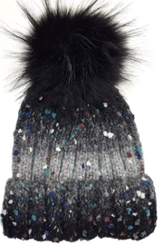 Olive & Pique Speckled Pompom Beanie. - Front cropped