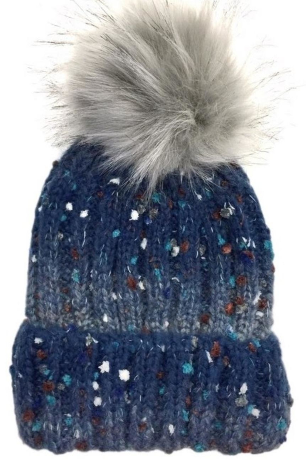 Olive & Pique Speckled Pompom Beanie. - Front Cropped Image