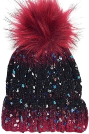 Olive & Pique Speckled Pompom Beanie. - Product Mini Image