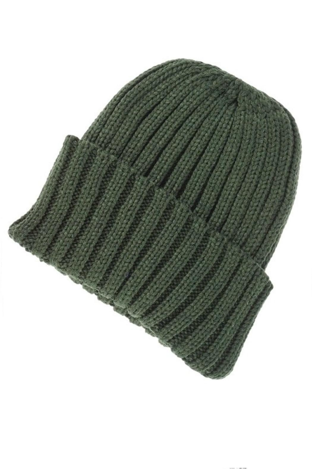 Olive & Pique Thick Ribbed Toque - Front Cropped Image