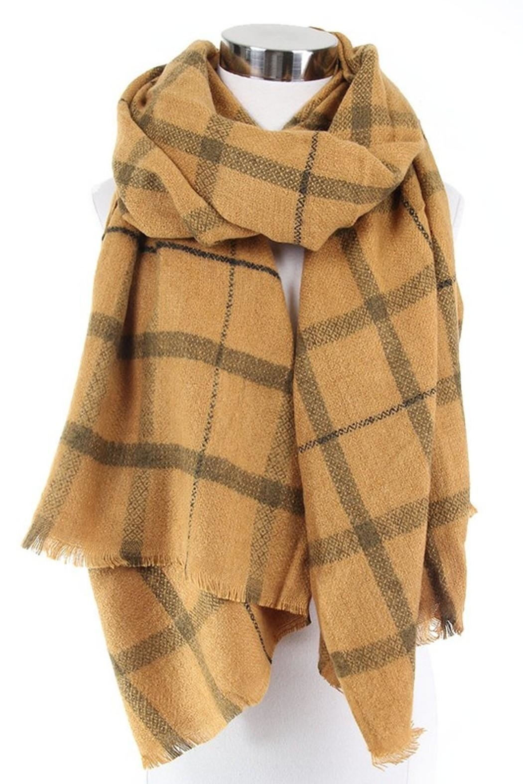 Olive & Pique Winter Plaid Scarf - Main Image