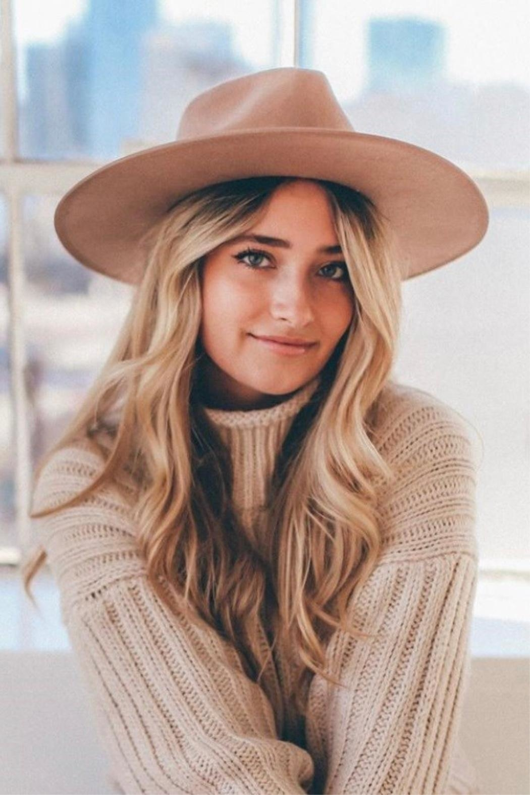 olive and pique Barrymore Rancher Hat - Front Full Image