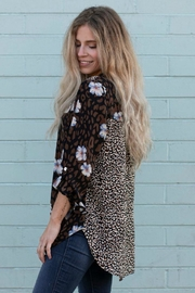 Olive Hill Animal Button-Up Blouse - Product Mini Image