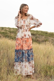 Olive Hill Chiffon Peasant Dress - Front cropped