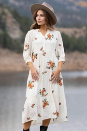 Olive Hill Embroidered Empire Dress - Product Mini Image
