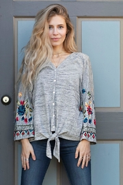 Olive Hill Embroidered Knit Top - Product Mini Image