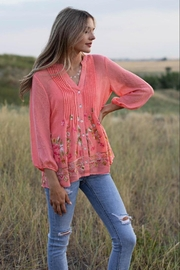 Olive Hill Embroidered Pleated Blouse - Product Mini Image