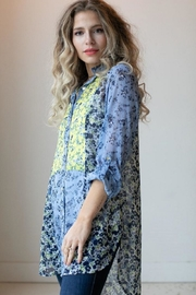 Olive Hill Floral Chiffon Blouse - Product Mini Image