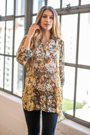 Olive Hill Floral Chiffon Tunic - Product Mini Image