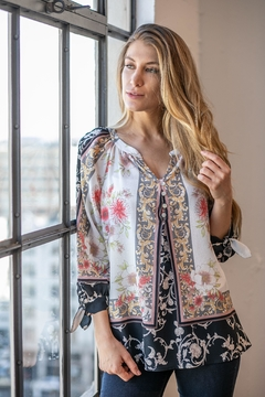 Olive Hill Floral Crepe Blouse - Product List Image