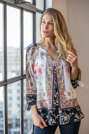 Olive Hill Floral Crepe Blouse - Product Mini Image