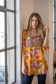Olive Hill Floral Crepe Tunic - Product Mini Image